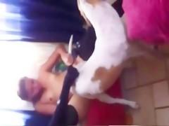 Follada a lo perrito por doggy