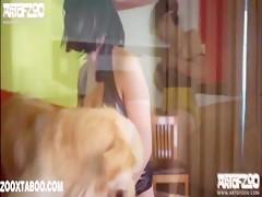 El dog y una caliente latina